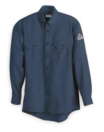FR Long Sleeve Shirt, Navy, LT, Button