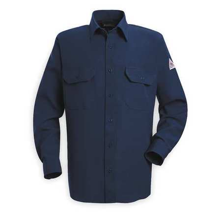 Flame Resistant Collared Shirt,  Navy,  Nomex(R),  M