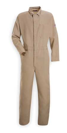 Flame Resistant Contractor Coverall,  Khaki,  Nomex(R),  2XL