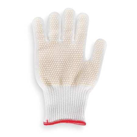 Cut Resistant Glove, White, Reversible, XS