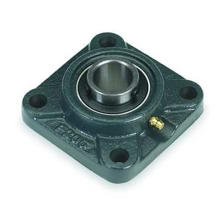 "Flange Bearing, 4-Bolt, Ball, 1-1/8"" Bore"