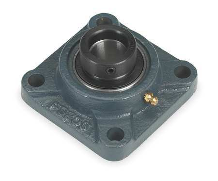 "Flange Bearing, 4-Bolt, Ball, 1-3/8"" Bore"