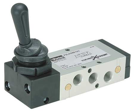 Manual Air Control Valve, 4-Way, 1/8In NPT