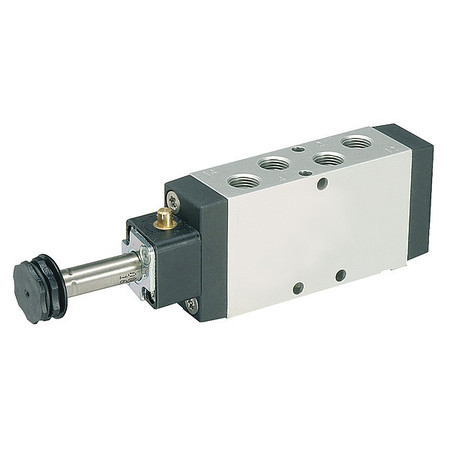 Solenoid Air Control Valve, 3/8 In, 4-Way