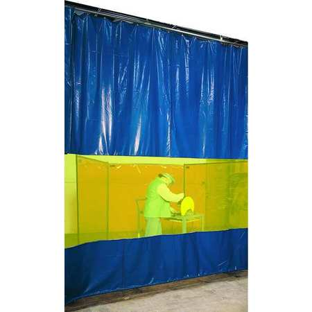 Welding Curtain Partition Kit, 9ft x 4ft