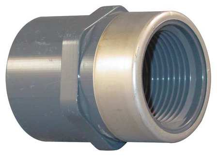 "1-1/2"" Socket x FNPT PVC Stainless Steel Adapter"