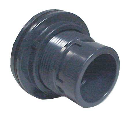 Bulkhead Tank Fitting, 2 In, Socket x FNPT