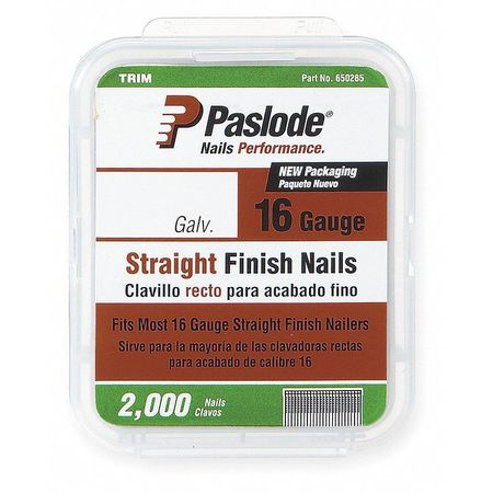 Straight Finish Nail, 16 ga, 2 In, PK2000
