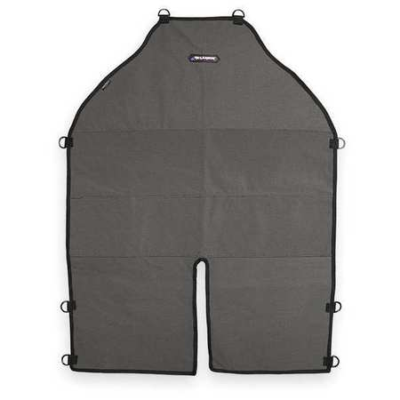 Bib Apron, Gray/Black, 36 In. L, 25 In. W