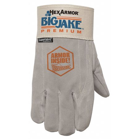 Cut Resistant Gloves, Gray/White, M, PR