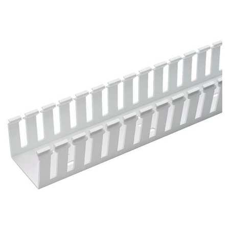 Wire Duct, Wide Slot, White, L 6 Ft