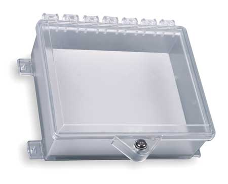 Enclosure w/Lock, Polycarbonate, Surface