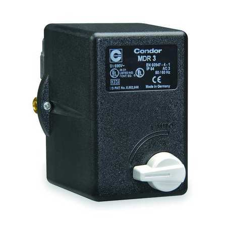 "Pressure Switch, 3PST, Diaphragm, 3/8""FNPT"