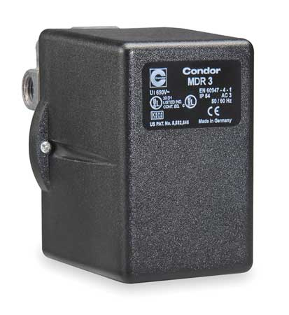 Pressure Switch, 3PST, 60/80 psi, Diaphragm