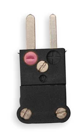 Thermocouple Plug, J, Black, Miniature