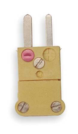 Thermocouple Plug, K, Yellow, Miniature