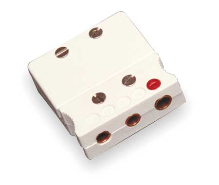 Thermocouple Jack, Cu, White, 3 Pin QD