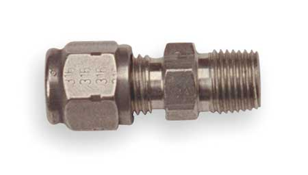 Compression Fitting, Non-Adj, 1/8NPT, L 1/4