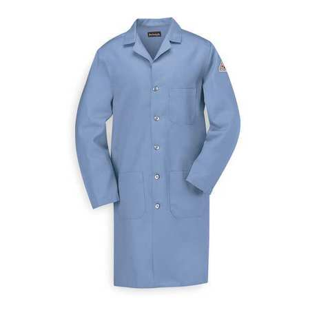Flame Resistant Lab Coat,  Light Blue,  Cotton,  S