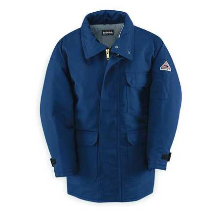 Flame-Resistant Parka, Insulated, Navy, XL