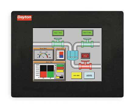 Touch Panel, 8In TFT Color/Ether, 54000 Hr,  Min. Qty 2