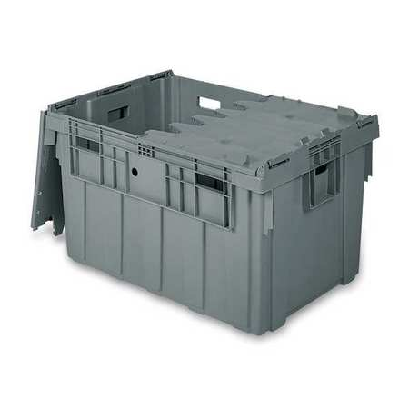 Attached Lid Container, 6.62 cu ft, Gray