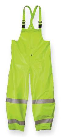 Arc Flash Rain Bib Overall,  Lime Yellow,  XL