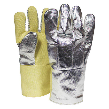 Heat Resistant Gloves,  Silver/Yellow,  Thermobest