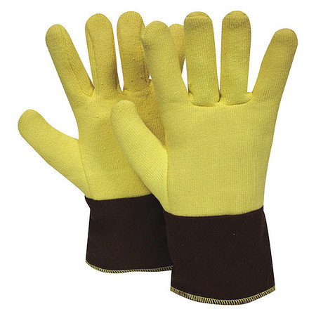 Heat Resistant Gloves, Ylw,  M, PR