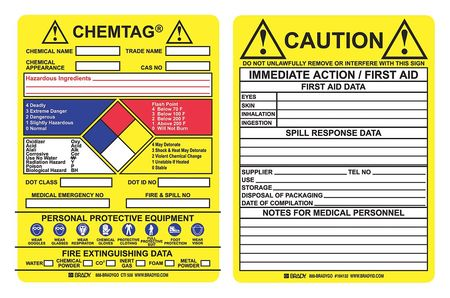 Chemtag(R) Insr, 5-3/4 x 7-5/8 In, PK100