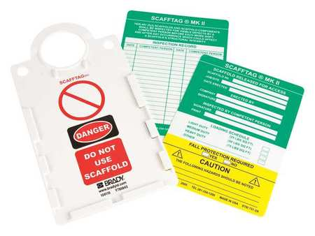 Scafftag(R) II kit, 11-1/2 x 6 In