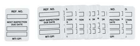 Microtag(r) Inspection Insr, Bk/Wht, PK100