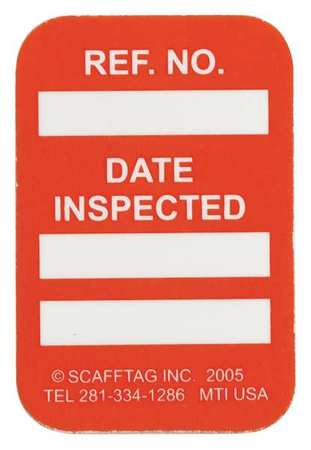 Microtag(r) Inspected Insr, Wht/Orn, PK100