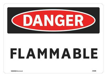 Danger Sign, 7 x 10In, R and BK/WHT, FLMB