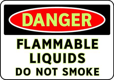 Danger No Smoking Sign, 7 x 10In, ENG, Text