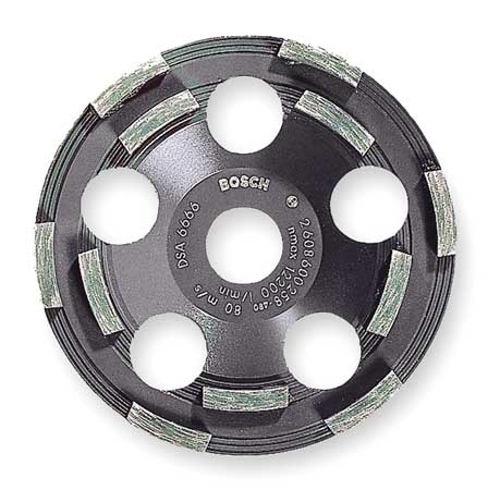 Segment Cup Wheel, Diamond, Double, 5x7/8