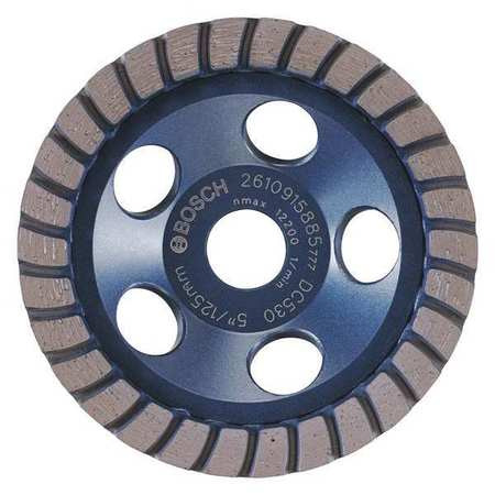 Segment Cup Wheel, Diamond, Turbo, 5x7/8