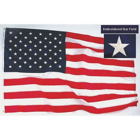 US Flag, 12x18 Ft, Polyester
