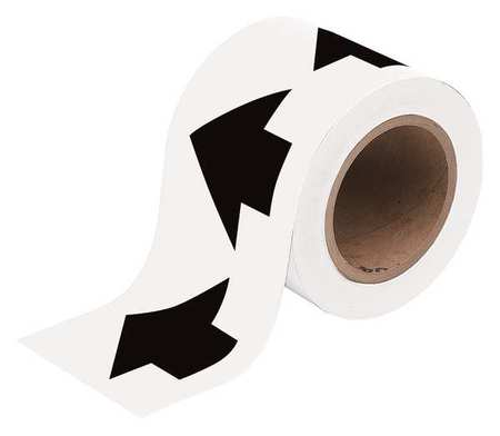 Arrow Tape, Black/White, 4 In. W