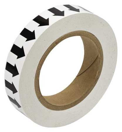 Arrow Tape, Black/White, 1 In. W