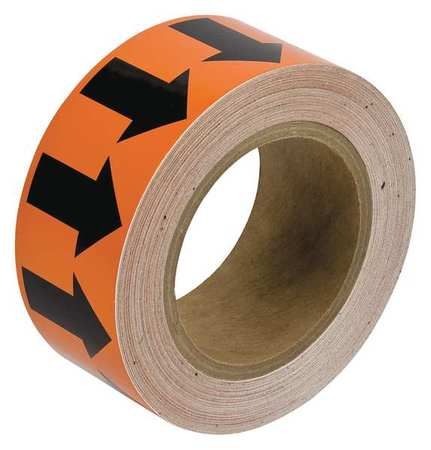 Arrow Tape, Black/Orange, 1 In. W