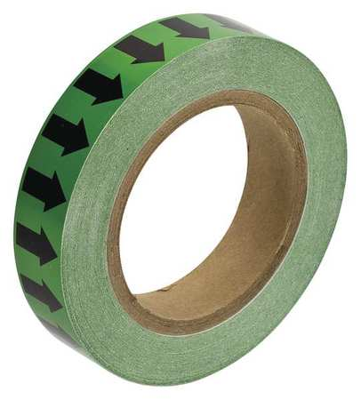 Arrow Tape, Black/Green, 1 In. W