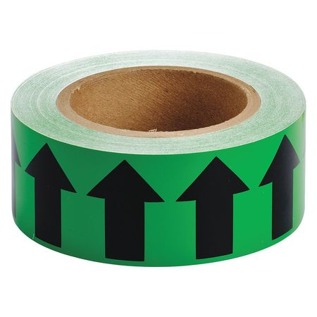 Arrow Tape, Black/Green, 2 In. W