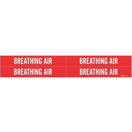 Pipe Markr, Breathing Air, R, 3/4to2-3/8 In