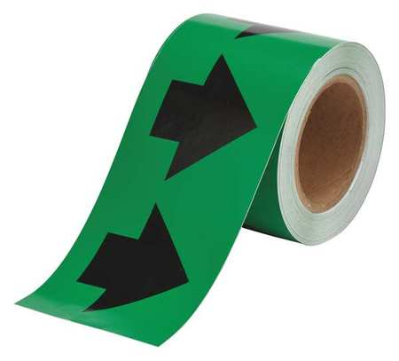 Arrow Tape, Black/Green, 4 In. W