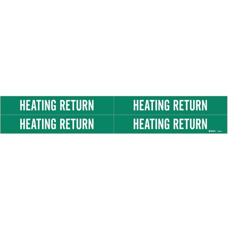 Pipe Marker, Heating Return, 3/4to2-3/8 In