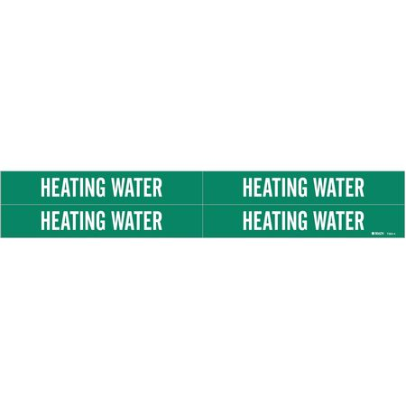 Pipe Marker, Heating Water, 3/4to2-3/8 In