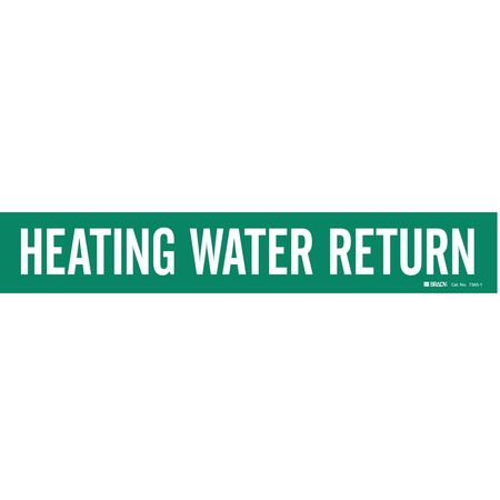 Pipe Marker, Heating Water Return, Green