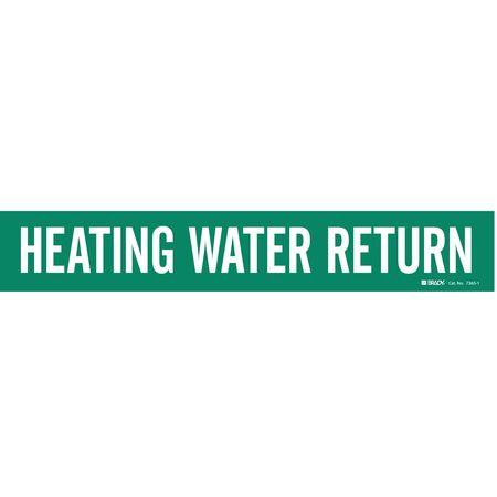 Pipe Marker, Heating Water Return, Green