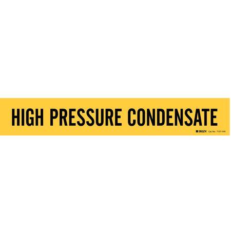 Pipe Marker, High Pressure Condensate, Yel